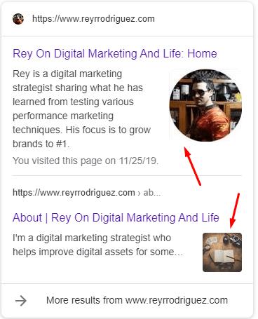 Rey on digital marketing rich snippet